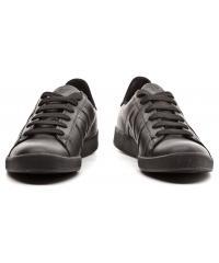 Sneakersy Męskie Armani Jeans Czarne Skórzane 30 06565 YO 12 BLACK