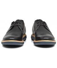 Półbuty Męskie Clarks Czarne Skórzane 23 Flexton Plain 26119316 Black Leather