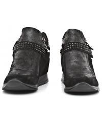 Sneakersy Damskie IMAC Czarne Skórzane 40 63381 7150 / 011 BLACK