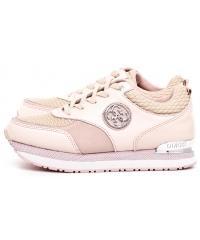 Sneakersy Damskie GUESS Pudrowy Róż Skórzane RIMMA 22 FLRIM4 LEA12 NUDE