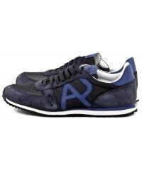 Sneakersy Męskie Armani Jeans Granatowe Skórzane 30 935027 7P420 36435 BLUE 1541