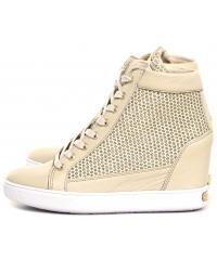 Sneakersy Damskie GUESS Beżowe Skórzane FURIA FLFRI1 FAM12 BEIGE