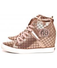 Sneakersy Damskie GUESS Pudrowy Róż JILLIE FLJIL1 ELE12 GOLD