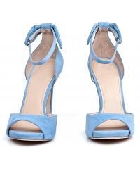 Sandały Damskie GUESS Niebieskie Skórzane AMELLA 22 FLAML2 SUE03 BLUE