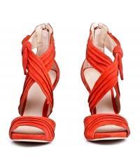 Sandały Damskie GUESS Czerwone Skórzane AZALI 22 FLAZL2 SUE03 CORAL