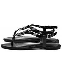 Sandały Damskie Armani Jeans Czarne Skórzane 30 925219 7P613 00020 NERO