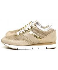 Sneakersy Damskie Calvin Klein Jeans Złote Tea RE9644 Gold