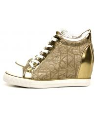 Sneakersy Damskie Calvin Klein Jeans Złote Ramona RE9686 Gold