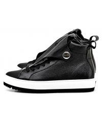 Sneakersy Damskie Armani Jeans Czarne Skórzane 30 925301 7A651 00020 NERO