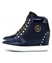 Sneakersy Damskie GUESS Granatowe FALAN 22 FLLAN3 SUE12 BLUE