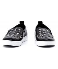 Sneakersy Damskie GUESS Czarne Skórzane GLORIENNE2 FLRN23 LEA12 BLACK