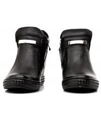 Sneakersy Damskie Venezia Czarne Skórzane 04 1122C PEL NER