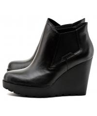 Botki Damskie Calvin Klein Jeans Czarne Skórzane SYDNEY NAPPA RE9620 BLACK