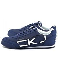 Sneakersy Męskie Calvin Klein Jeans Granatowe Cale SE8454 Steel Blue