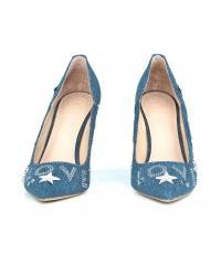 Szpilki Damskie GUESS Niebieskie Jeansowe BELLE2 FLBE21 DEN08 BLUE