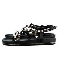 Sandały Damskie GUESS Czarne Skórzane CLARETA2 FLCL22 LEA03 BLACK