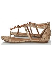 Sandały Damskie 3i Beżowe 10841