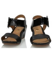 Sandały Damskie 3i Czarne Skórzane 10721