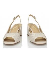 Sandały Damskie 3i Białe Skórzane 10732