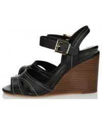 Sandały Damskie 3i Czarne Skórzane 10806