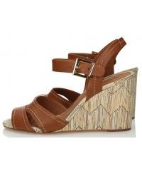 Sandały Damskie 3i Brązowe Skórzane 10807