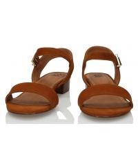 Sandały Damskie 3i Brązowe Skórzane Nubukowe 10856