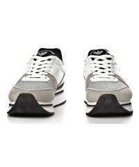 Sneakersy Damskie Emporio Armani Białe 45 X3X046 XL214 A022 PLA/WHI/SIL/BLK