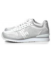 Sneakersy Damskie Emporio Armani Srebrne 45 X3X049 XL201 A032 O.WH/SIL