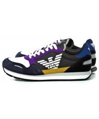 Sneakersy Męskie Emporio Armani Kolorowe 45 X4X215 XL200 A007 NAVY MULTICOLOR