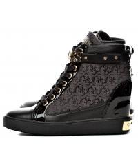 Sneakersy Damskie GUESS Czarne FURRLEY FLFRY3 FAL12 BLKBL