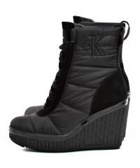 Botki Damskie Calvin Klein Jeans Czarne Sole RE9774 Black