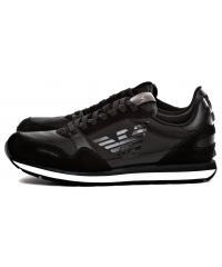 Sneakersy Męskie Emporio Armani Czarne X4X215 XL198 A792 BLACK/BLACK/BLACK