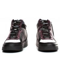 Sneakersy Męskie Emporio Armani Czarne X4Z083 XM052 A116 BLK/WHITE/VINEYARD