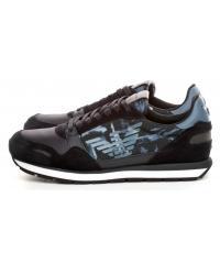 Sneakersy Męskie Emporio Granatowe X4X215 XM046 D879 NAVY/DARK/NAVY