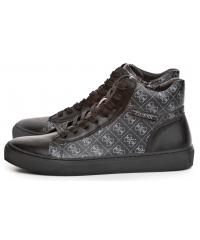 Sneakersy Męskie GUESS Czarne LARRY HI FM8LRY FALL12 BLKGR