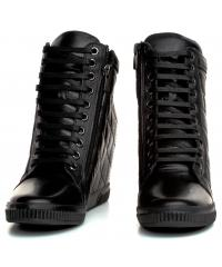 Sneakersy Damskie Venezia Czarne LA2303 201 BLACK