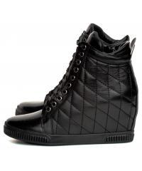 Sneakersy Damskie Venezia Czarne LA2303 101 BLACK