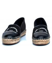 Espadryle Damskie Karl Lagerfeld Czarne KL80108 900 Black Canvas