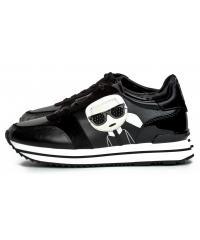 Sneakersy Damskie Karl Lagerfeld Czarne Velocita II KL61931 Black