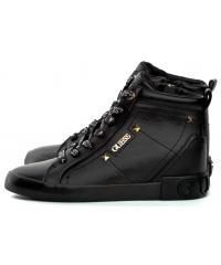 Sneakersy Damskie GUESS Czarne PORTLY FL5POR LEA12 BLACK