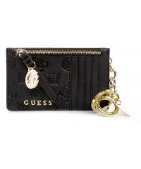 Portfel, Card Holder Damski GUESS Czarny RW8376 P0101 BLA