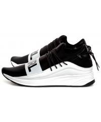Sneakersy Męskie Karl Lagerfeld Czerń KL51145-401 Black Lthr&Textile