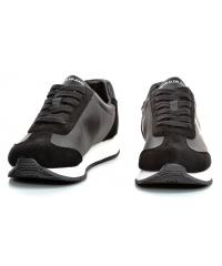 Sneakersy Męskie Calvin Klein Jeans Czarne JOELE B4S0716 BLACK